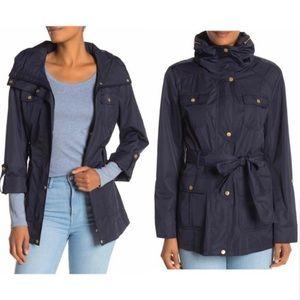 NWT Size L Cole Haan Hooded Rain Jacket Coat
